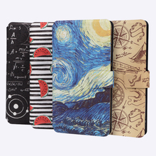 Painted Flip Leather Case For Fundas Huawei Honor 9 Lite 10 8 Lite Case For Honor 5A 6A 6C Pro 10 lite Cover Wallet Phone Cases