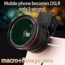 Zomei 2 en 1 Clip-on Teléfono Celular Cámara de ojo de Pez Lente Ojo de Pez + Lente Gran Angular + LENTE GRAN ANGULAR 0.42X Lente Ojo de Pez Macro para iPhone Samsung