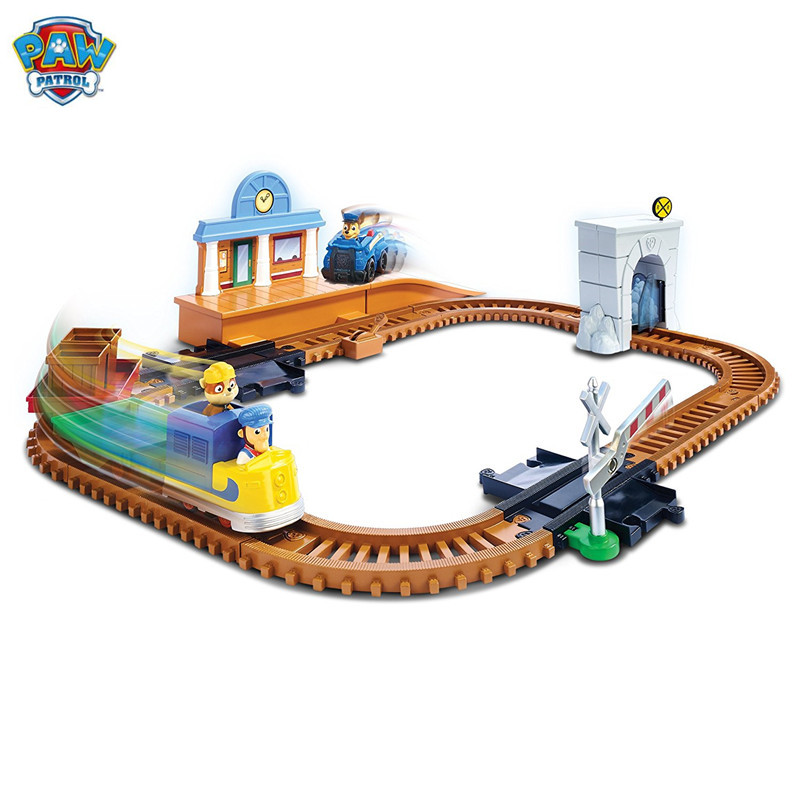 Genuine Paw Patrol dog Train track toy set Patrulla Canina Juguetes Action Figures  play set Kids Gift Toy Genuine Paw Patrol dog Train track toy set Patrulla Canina Juguetes Action Figures  play set Kids Gift Toy