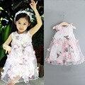 Vestidos de las muchachas Sin Mangas Ropa de Moda Flor de Mariposa Diseño Party Girl Baby Princess Costume Niños Lace tutu Dress A071