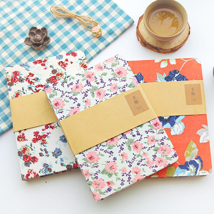 South Korea creative cloth hand account diary hand books blank book sketch notebook stationery 2017 a5 week schedule the plan diary book notebook notebook korea creative stationery diary hand account