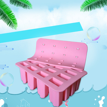 Hotsale Classic Silicone Ice Lolly Mold 16 Cuboid Shape Ice Cream Mold with Lid Bakeware Cake Mold