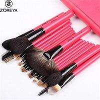 ZOREYA Brand 22pcs Professional Makeup Brushes Set Sable Goat Hair Fan Powder Blush Eyeshadow Brush Cosmetic