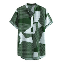 JAYCOSIN 2019 New Summer Men Shirts Multi Color Lump Chest P