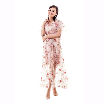 Elegant floral sheer maternity dresses pregnant clothes for photo shoot pregnancy clothes vestido embarazada photography props photo shoot