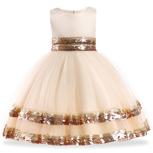 цена на Kids Girls Formal Prom Evening Party Dresses For Girls Flower Girls Wedding Dress 2018 Summer  Princess Dress 3 5 7 10 Years Old