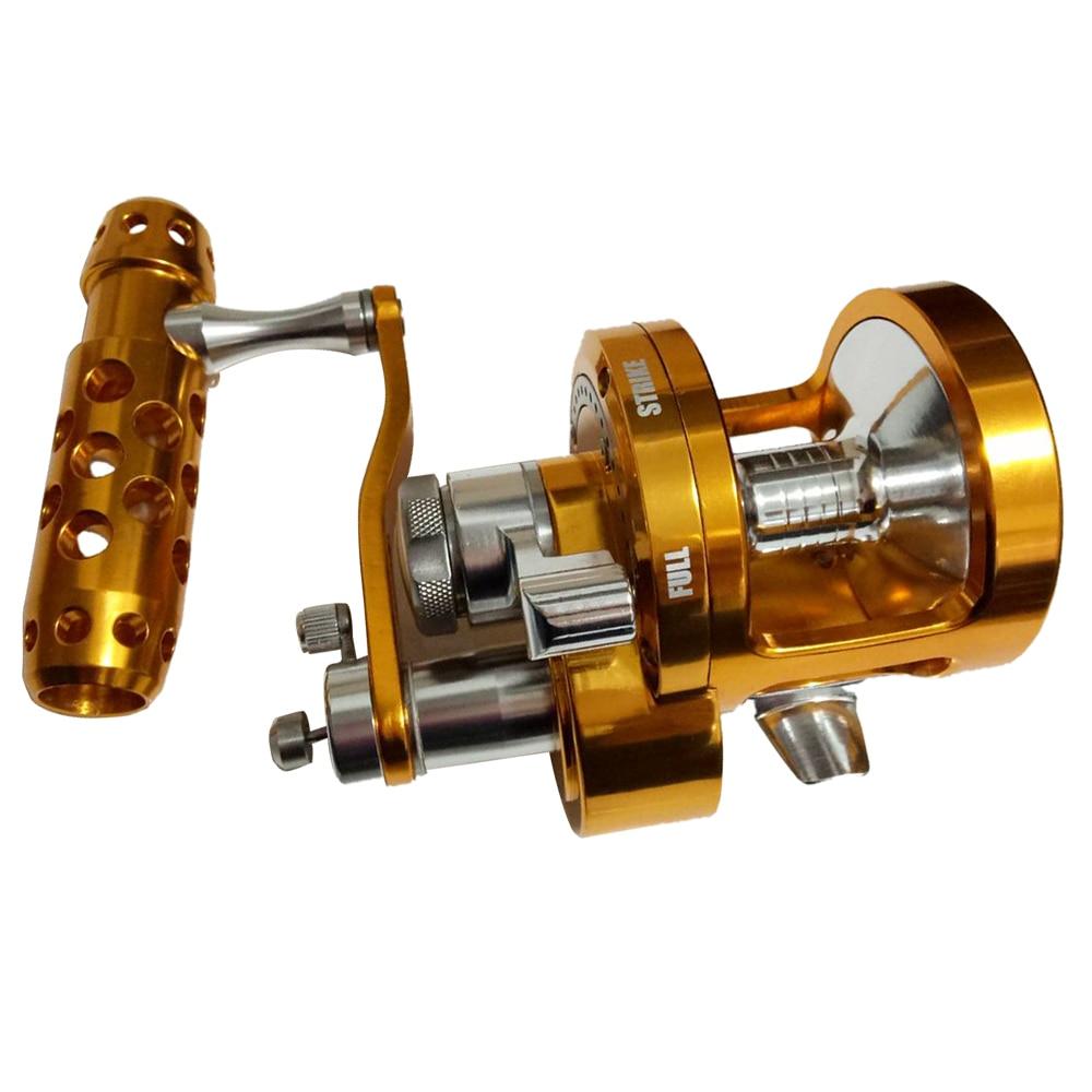 BMDT-Full Jigging Reel Double Speed Trolling Fishing Reel 30kgs Power Drag Deep Sea Saltwater Boat Reel SYD90 4.5:1 2.1:1 right