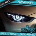 AKD Car Styling Cabeza De La Lámpara para MAZDA 6 ATENZA DRL Faros LED Faros Ojos Del Diablo Lente Del Bi-Xenón HID Accesorios Para automóviles