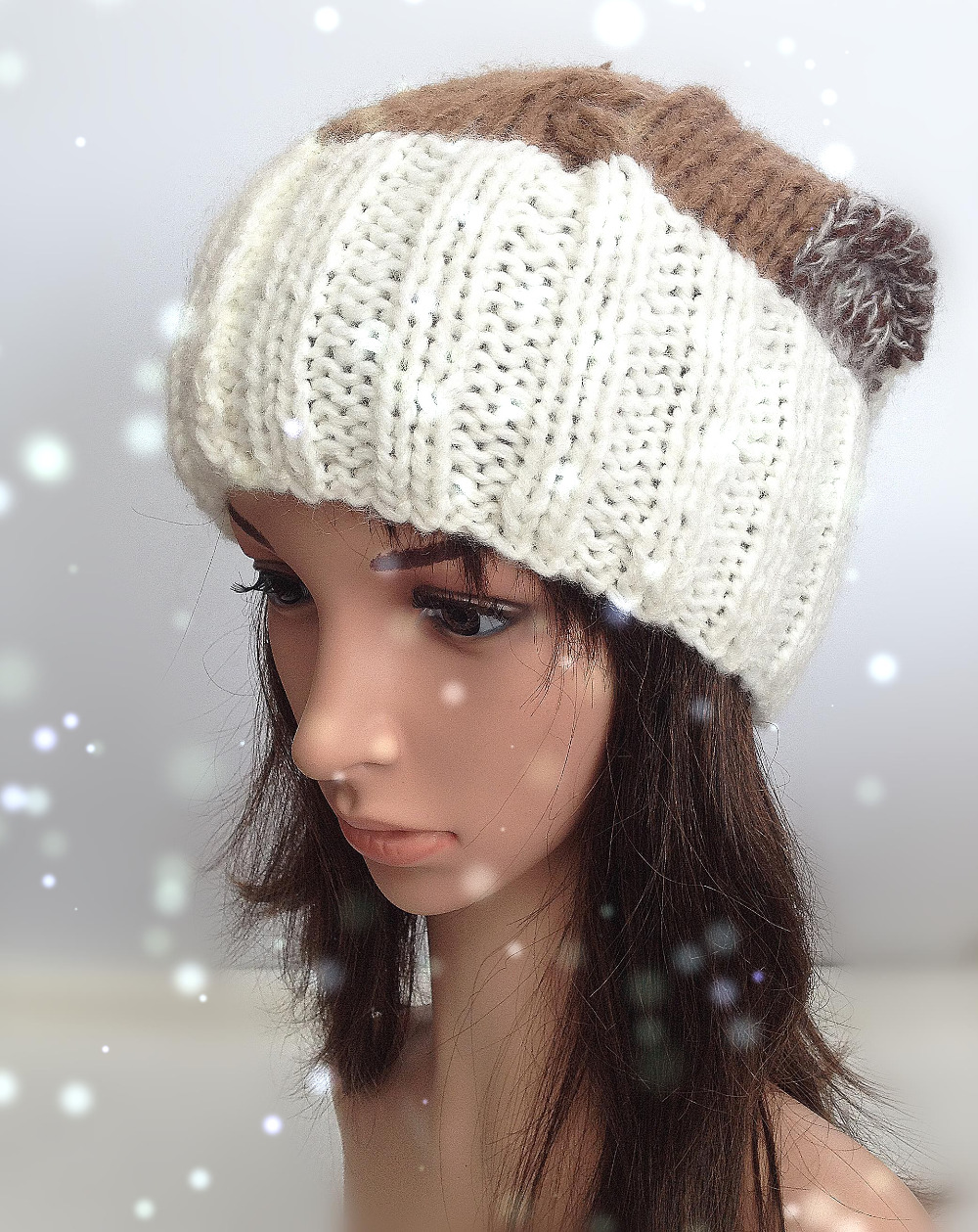 bomhcs cute women s fashion autumn winter warm crochet beanie handmade ear muff knitted hat cap with letters BomHCS Cute Fashion Women Autumn Winter Warm Knitted Beanie 100% Handmade Soft Wool Crochet Hat Cap