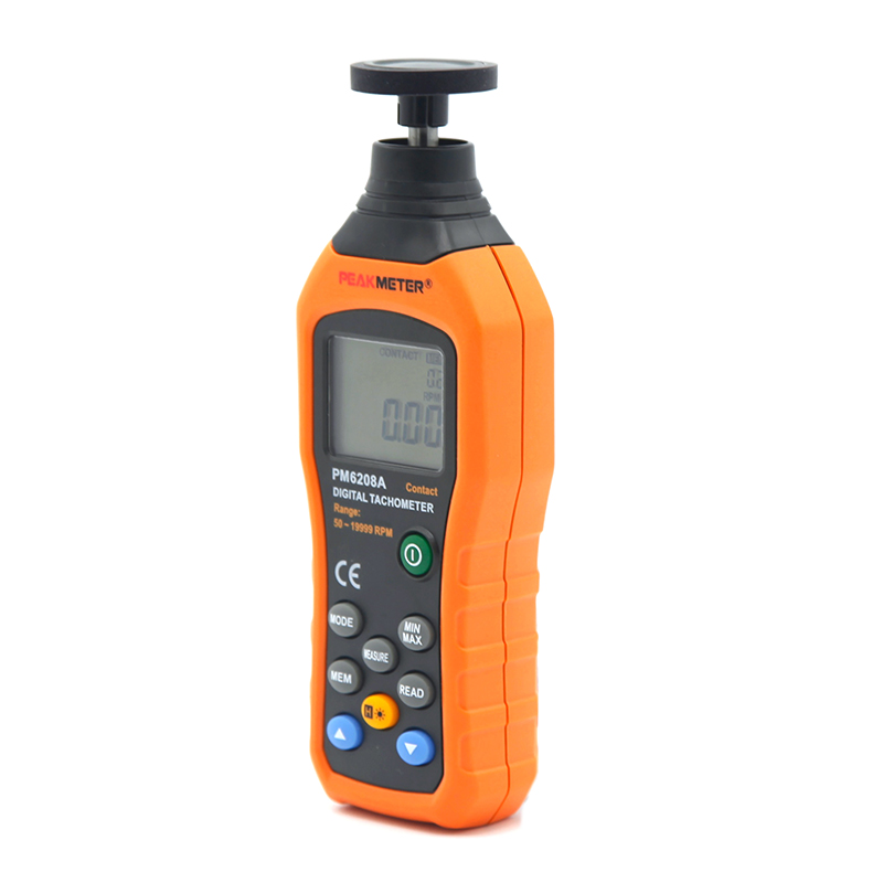 PM6208A Handheld contact tachometer digital with MAX/MIN/AVG Functions