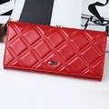 Red Fashion Women Wallet Genuine Leather Ladies Long Clutch Bags Brand Styles Purse Card Holder Handbag