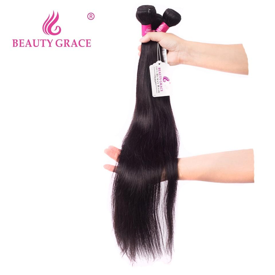 יופי גרייס 30 inch חבילות 32 inch הודי ישר שיער שיער טבעי Weave חבילות ללא רמי ישר הארכת שיער חבילות להתמודד