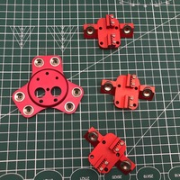 Delta Kossel k800 metal magnetic Dual effector+ carriage kit For DIY Chimera/Cyclops hot end Red color anodized