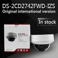 Em estoque Frete grátis versão em inglês DS-2CD2742FWD-IZS Áudio, 4MP WDR POE Vari-focal Lente Motorizada Câmera Dome IP Da Rede