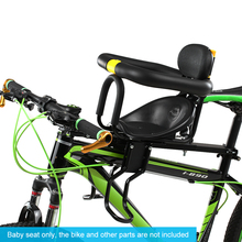 MTB Road Bike Safety Child Bicycle Seat Front Baby Kids Saddle with Foot Pedals Support Back Rest