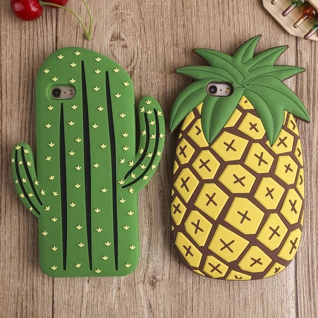 3D cactus Silicone case for iPhone 5s case SE pineapple cover for iphone 6 case 6s 6 plus 6s