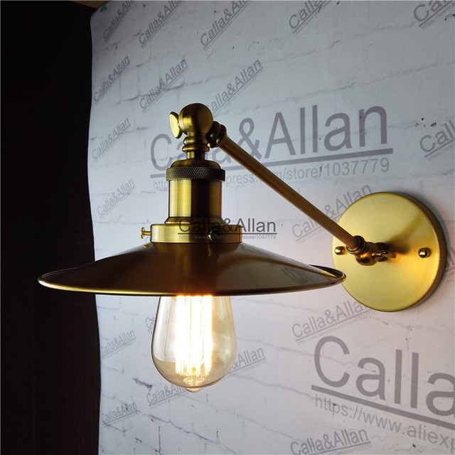 vintage style loft industrial edison hotel cafe bar restaurant brass wall lamp home decoration lighting brass