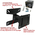 Universal 180 Degrees Rotated SPHC 10-26 Inch Durable Steel LCD LED Falt Panel Plasma TV Wall Mount Bracket