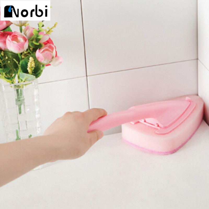 Triangles Shape Head Kitchen Bathroom Cleaning Brush Toilet Cleaning Tool Dirt Corn Cleaner