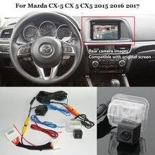 Yeshibation камера заднего вида для Mazda CX-5 CX 5 CX5 подключение заводской экран Совместимость/парковочная камера