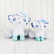 18-30cm White Alola Vulpix plush cartoon doll toy high quality PP cotton soft stuffed doll toy for children gift
