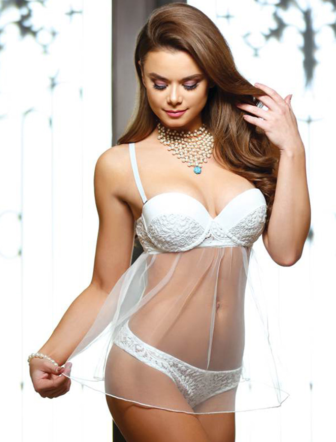 font b Sex b font Plus Size Chemise Women Chemise See Through White Transparent Gauze