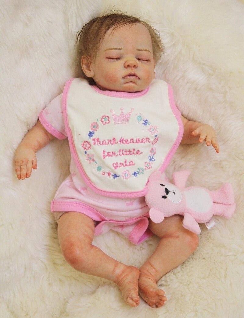 См 50 см силиконовая кукла Reborn Baby Doll Дети Playmate подарок для девочек Baby Alive малыш кукла младенец очаровательны закрытые глаза девочка игрушка