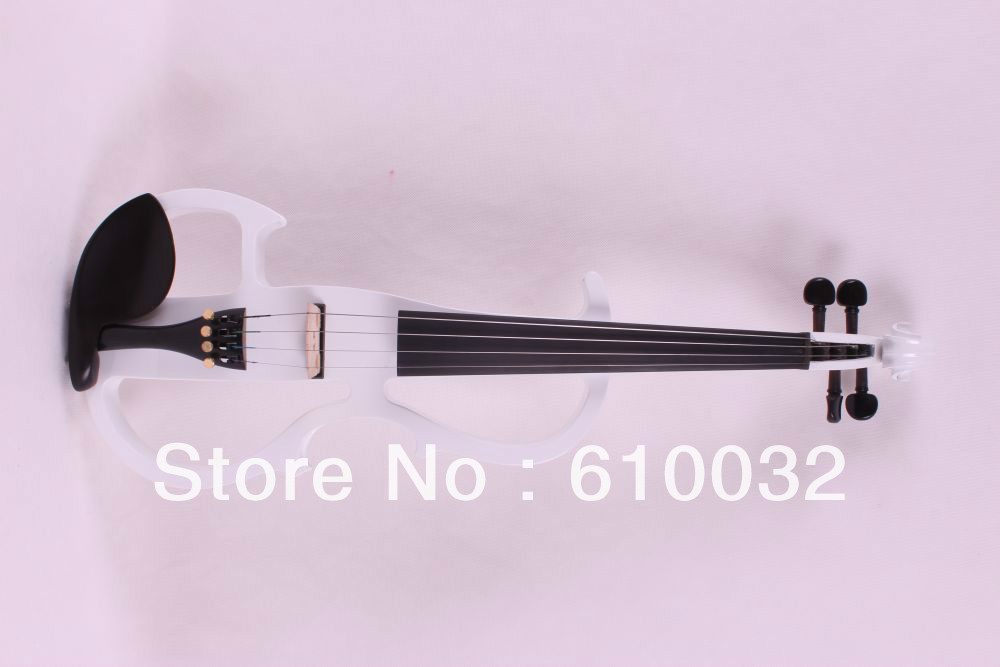 4/4 Electric Violin Silent Pickup Fine tone parts include New Golden Color #8-4 handmade new solid maple wood brown acoustic violin violino 4 4 electric violin case bow included