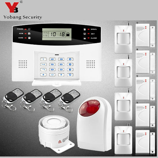YobangSecurity Voice Prompt Wireless Door Sensor GSM SMS Home House Alarm Security System Spanish Russian Italian Voice yobangsecurity english spanish russian voice 4 wire 100 wireless defense zones gsm pstn home alarm system door window sensor kit