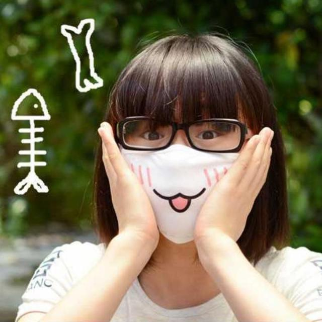 New Kwaii Cute Anti Dust Mask Kpop Cotton Mouth Mask Emotiction Masque Kpop Masks Anime Cartoon Mouth Muffle Face Mask 3