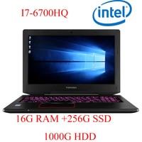 "1000g hdd P6-08 16G DDR4 RAM 256G SSD 1000g HDD i7 6700HQ AMD Radeon RX560 NVIDIA GeForce GTX 1060 4GB 15.6"" המחשב הנייד המשחקים (1)"