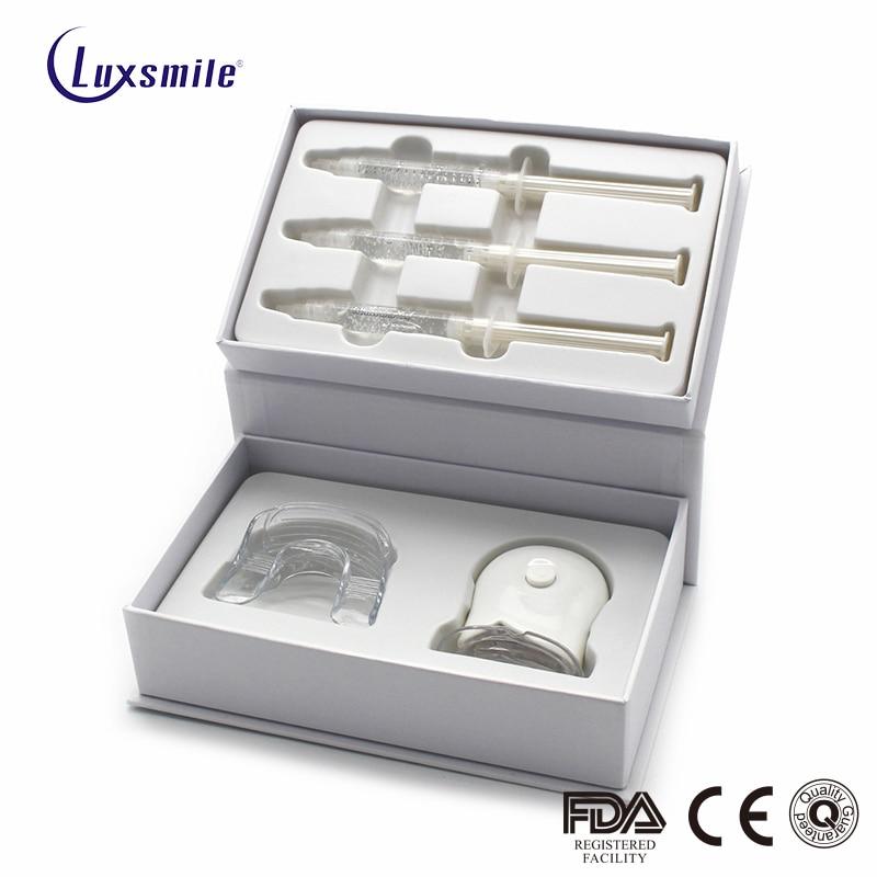 Luxsmile Teeth Whitening Kit Stain Remover Non Sensitive Led Accelerator Light 18% Carbamide Peroxide Mouth Tray Amazon Dropship
