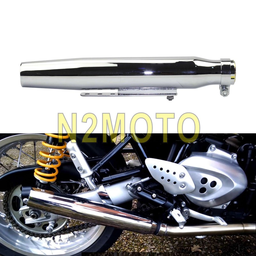 Universal Motorcycle Shortly Tapered Silencer Exhaust Pipe Muffler For Chopper