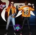 Эксклюзивный 2015 новый прилив мужчин свободного покроя певица этап DJ яркий золото блестками Большой размер бейсбол куртка костюм ночном клубе