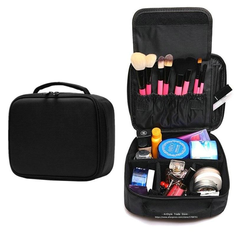 Women Fashion Professional Makeup Bag Travel Portable Oxford Cosmetic Box Storage Case Ladies Large Capacity Brush Tool Bag