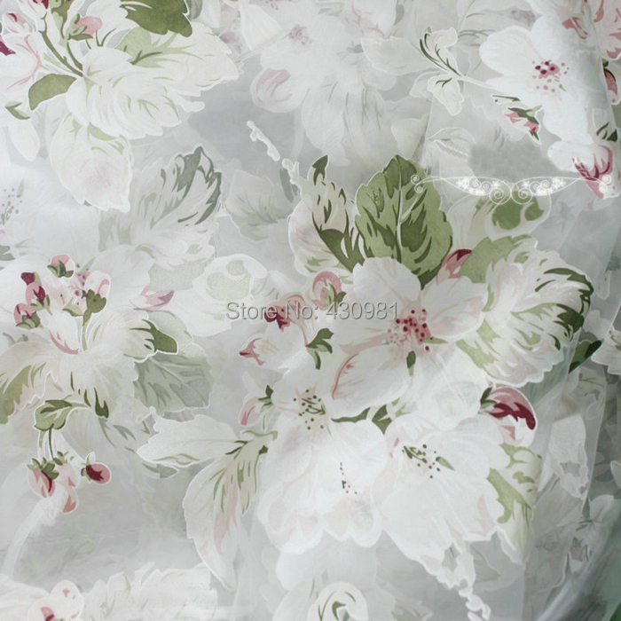 Meter White Organza Fabric Fashion Flowers Pattern Material Gauze Wedding  Dress Curtains Tissu Vintage Burnt Out Fabric Telas In Fabric From Home U0026  Garden ...