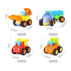 Image 3 - Vehículos de construcción para niños de 2 a 3 años, juguetes gruesos de dibujos animados para tirar hacia atrás, regalo para niños pequeños, MAR 20