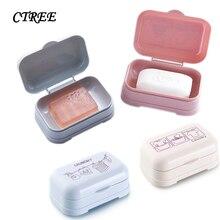 CTREE 1Pcs Bathroom Cartoon Printing Drain Soap Boxs Washing Products Storage Supplies Multi-Color C808