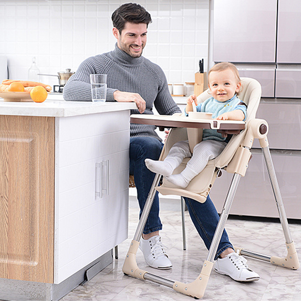 Children Booster Seat Portable High Chair For Feeding Adjustable Folding Baby Dining Table Chair Safety Eating Dining Chairs