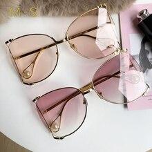 MS Square Oversized Sunglasses Women 2018 Fashion Sun Glasses Lady Brand Designer Vintage Shades Gafas Oculos de sol UV400