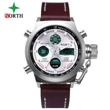 Fashion Men Watch North Brand Casual Watches Men Top Brand Waterproof Luxury Leather Men Wristwatches Quartz Watch reloj hombre