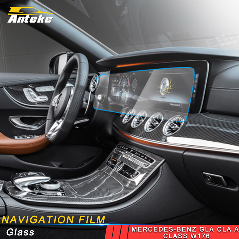 ANTEKE auto Navigation film dashboard film accessories sticker for <font><b>Mercedes</b></font> Benz A class <font><b>W177</b></font> V177 image