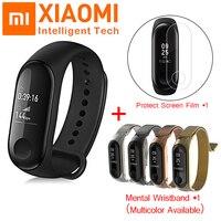 Оригинальный Xiao mi пульсометр mi Band 3 фитнес-трекер ручные умные браслеты OLED сенсорный экран mi Band 3 Smart Times Smartband