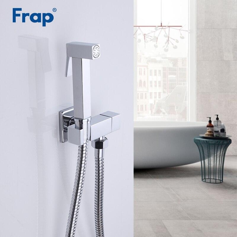 FRAP Bidets chrome toilet faucet mixer hand sprayer brass bathroom bidet toilet muslin shower clean faucet hygienic shower F7502