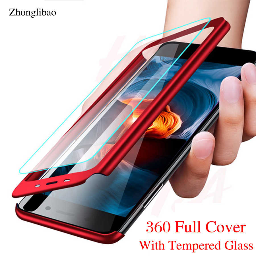 360 Full Cover for Samsung A6 A8 Plus A8s A7 A9 2018 M20 M10 A10 PC Protector Case for Galaxy A3 A5 A7 2017 with Tempered Glass