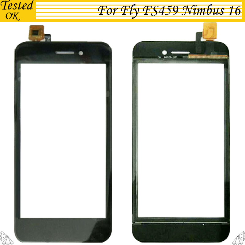 Black White Color 4.5 inch Phone Touchscreen Tested Working For Fly FS459 Nimbus 16 Touch Screen Digitizer image