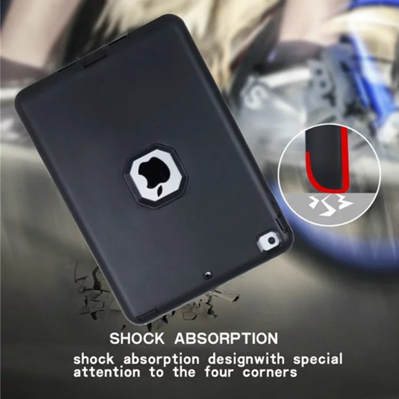 Shockproof TPU+PC Case for Apple iPad Air 1 9.7'' Kids Safe Luxury Armor Heavy Duty Rugged Back Hard Cover Cases for iPad Air1