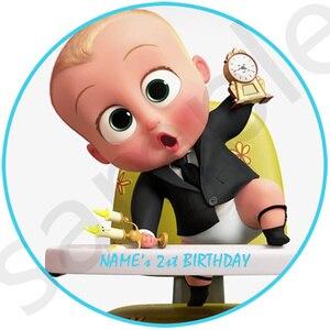 Персонализированная наклейка Boss Baby, подарок, сувениры, украшения на день рождения, детские товары для вечеринок, конфеты, детский душ