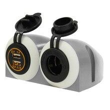 Авто 12/24 В Dual USB Автомобиля Лодка Прикуривателя Зарядное Устройство Адаптер Питания Выходе Порта Воды/пылезащитный