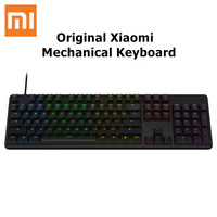 Original Xiaomi Mi Gaming Mechanical Keyboard 104 Keys LED Backlit Backlight USB 2.0 Wired Aluminum Alloy For Overwatch Dota2